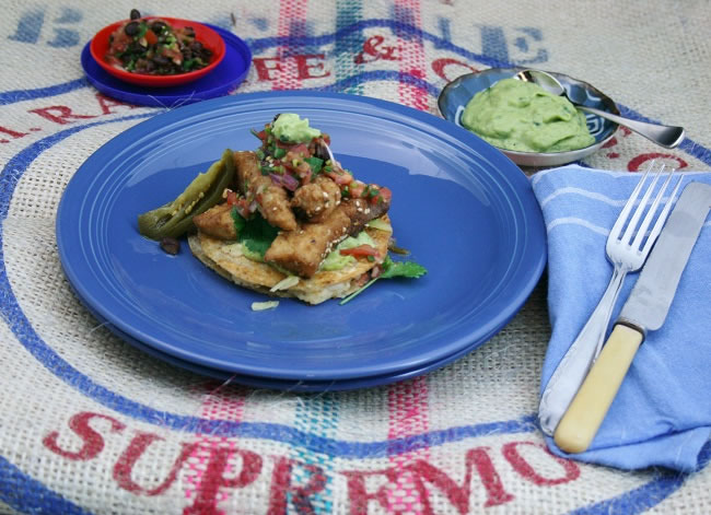 Potato Quesadillas, Crispy Fish