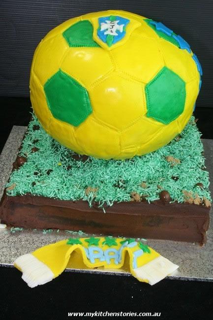 Brasilian Soccer cake