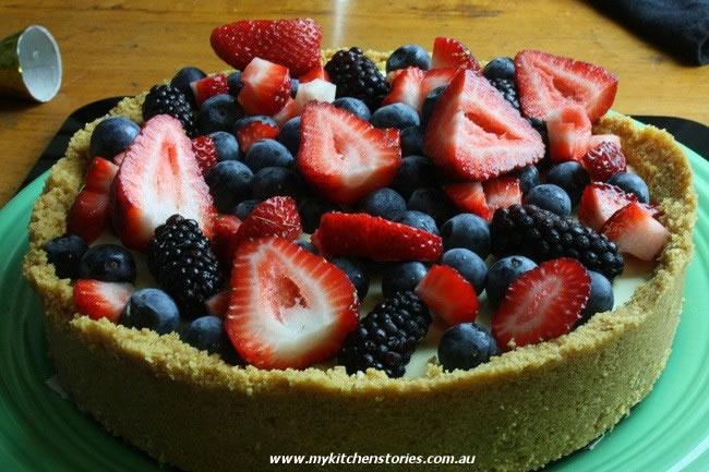White Chocolate Berry Tart, My Kitchen stories