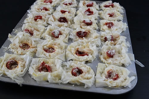 Easy Ricotta Mini Pie before baking