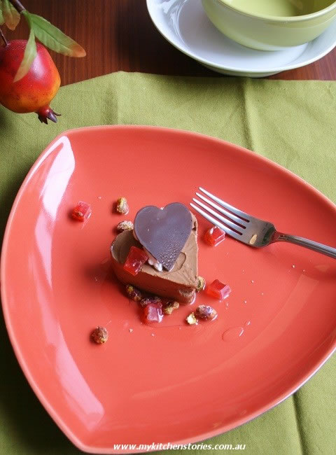 Frozen Chocolate Mousse Hearts