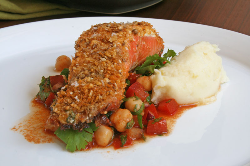 Trout-with-presserved-lemon-mash-and-chickpeas