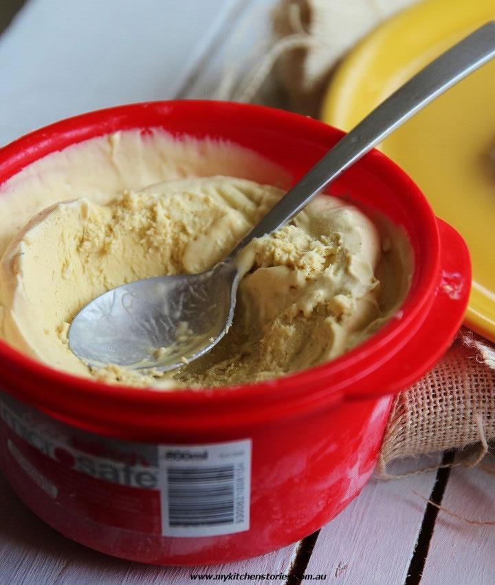 Banana Tart Tatin with golden syrup ice cream