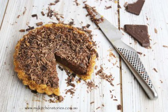 Chocolate no bake tart