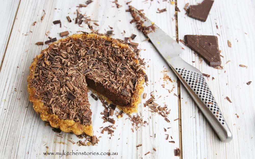Chocolate no bake tart