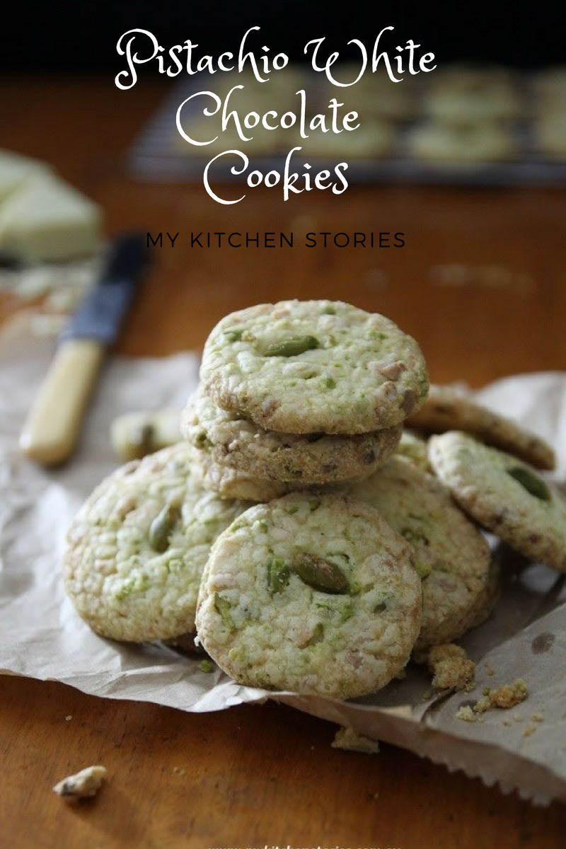 Pistachio White Chocolate Cookies