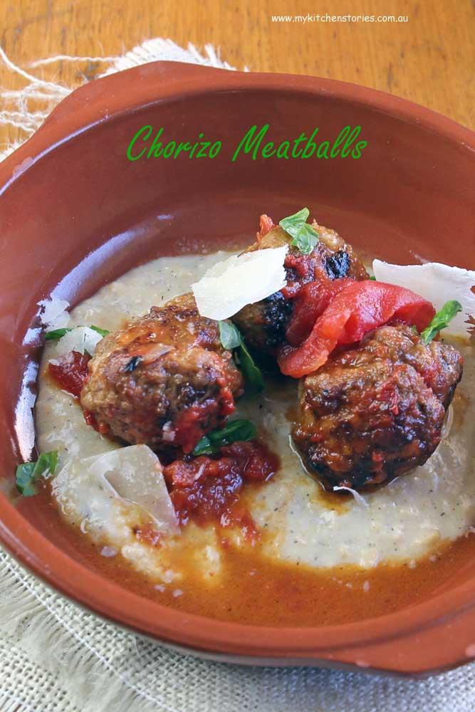 Chorizo Meatballs -My Kitchen Stories