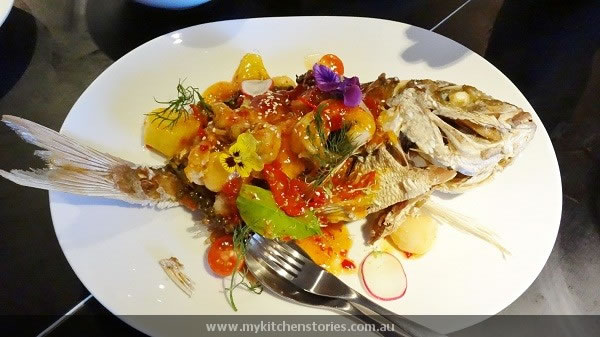 Crispy Snapper with sweet and sour