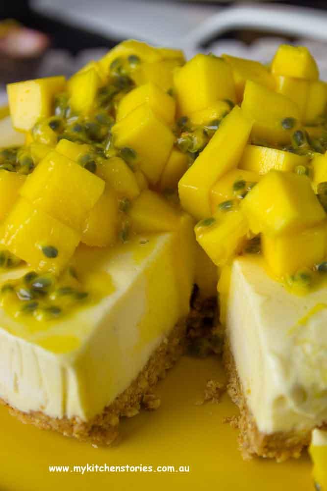 Mango frozen tart
