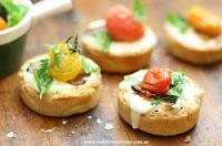 Bacon and Goat Curd Tarts