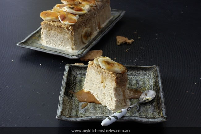 Butterscotch and coconut frozen terrine