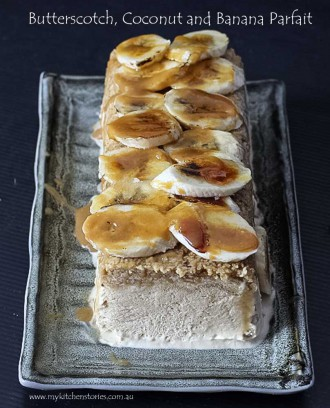 banana Parfait with caramel banans