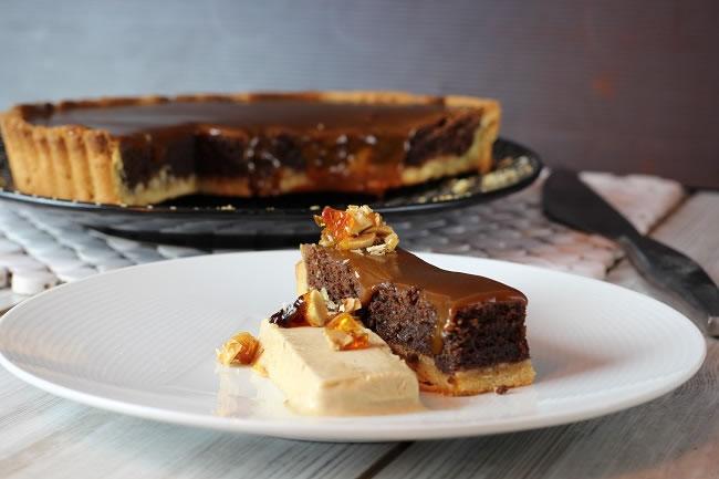 Chocolate Frangipane Tart with Banana and Salted Caramel | My Kitchen ...