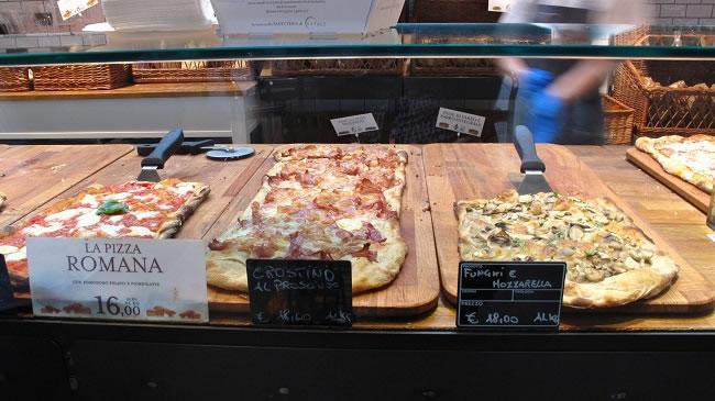 Slabbets of Pizza style focaccia