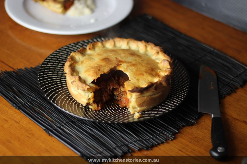 Lamb and Porcini hot crust pie
