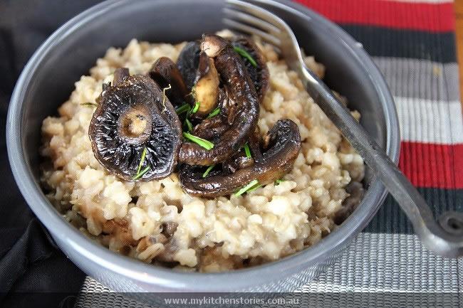 Barley & Mushroom risotto