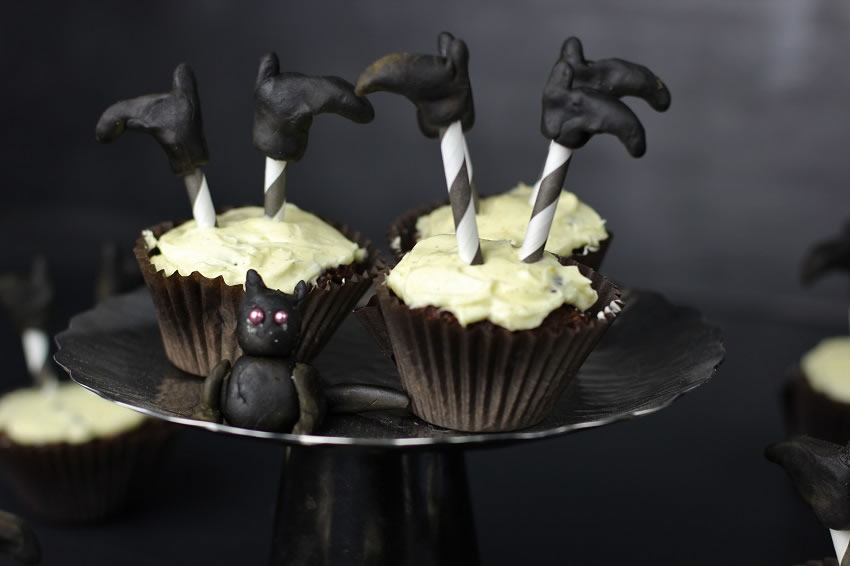 Witches leg cupcakes