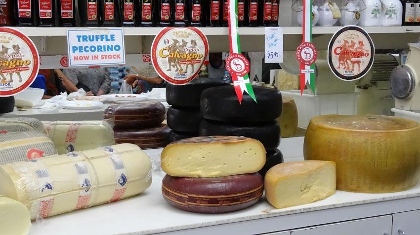 Cheeses at Ranieri Deli