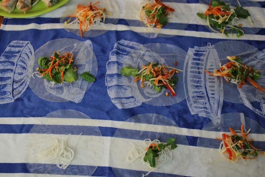 Vietnamese Rice Paper Rolls ready to roll