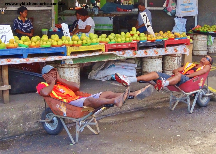 Wheelbarrows in Suva Fiji