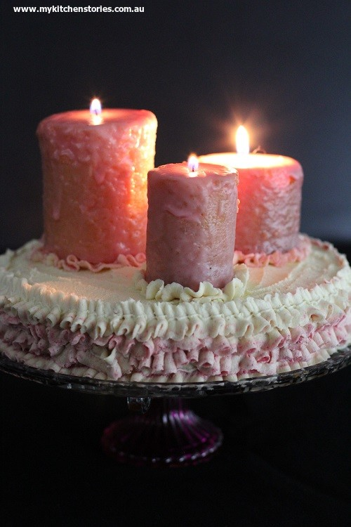Cake and candles cake