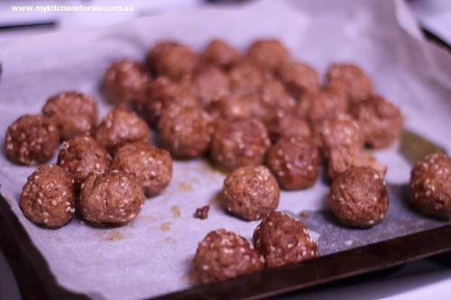 pop the meatballs into the oven