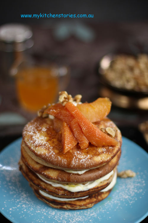 Orange Pancake with Quinces