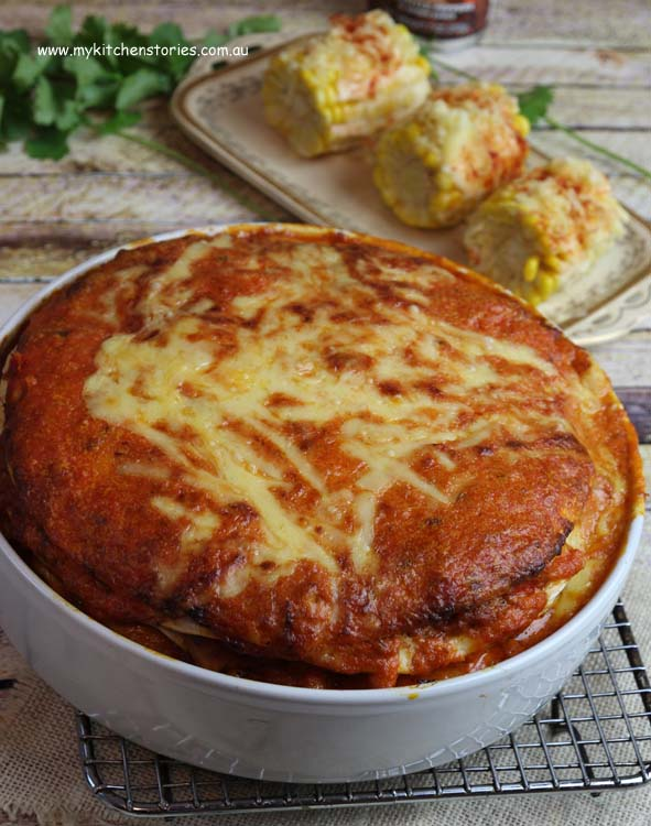 This Chicken Tortilla Pie looks good doesn't it? It is or rather was ...