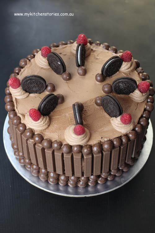 Chocolate Cake With Kit Kat S And Maltesers My Kitchen