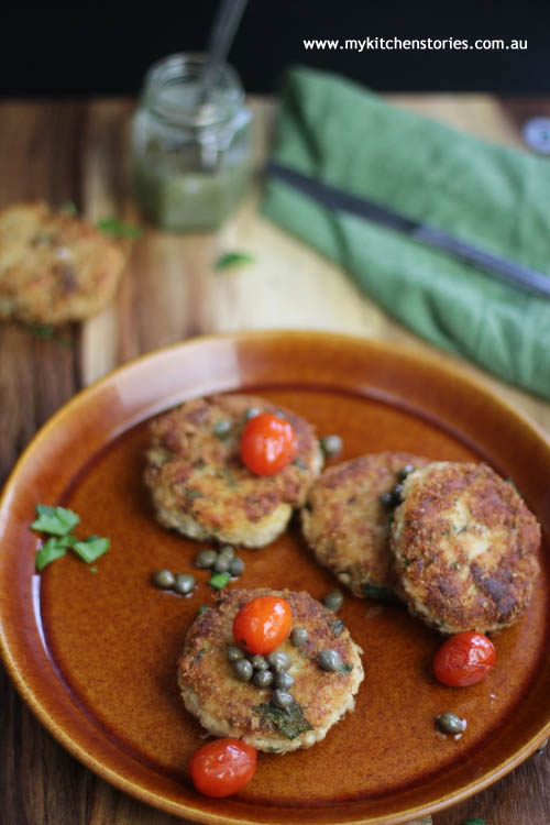 Tuna and potato cakes