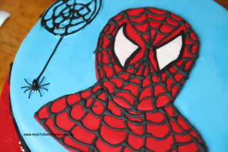 head shot of spider man