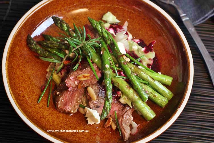 Asparagus-lamb-beetroot-dressing