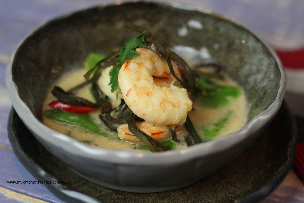 Prawn, seaweed and lime