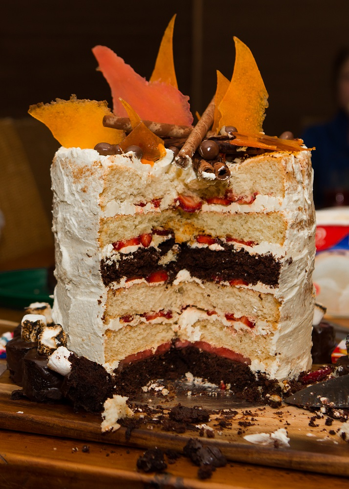 Bonfire cake cut - Copy