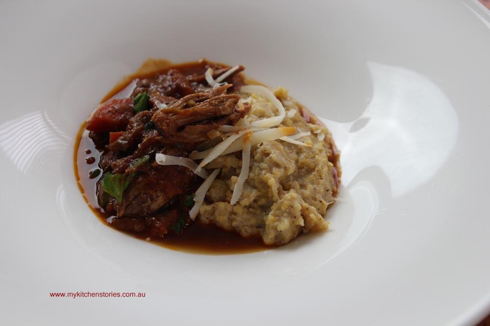 Ragu with polenta