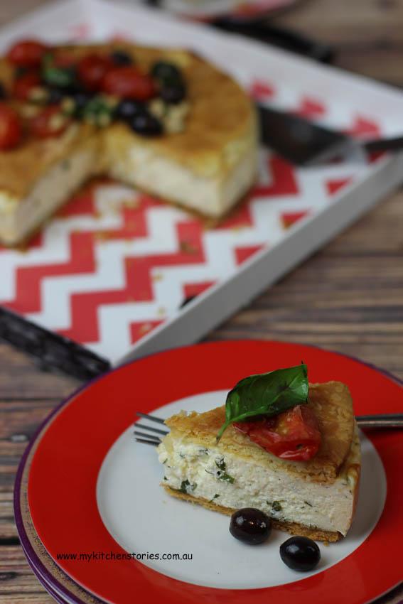 Ricotta, gruyere and Pastry tart
