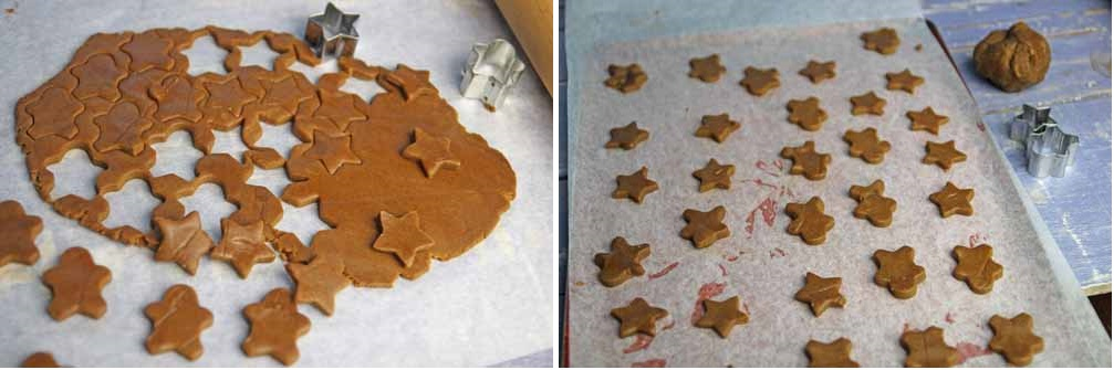 The gingerbread rolled