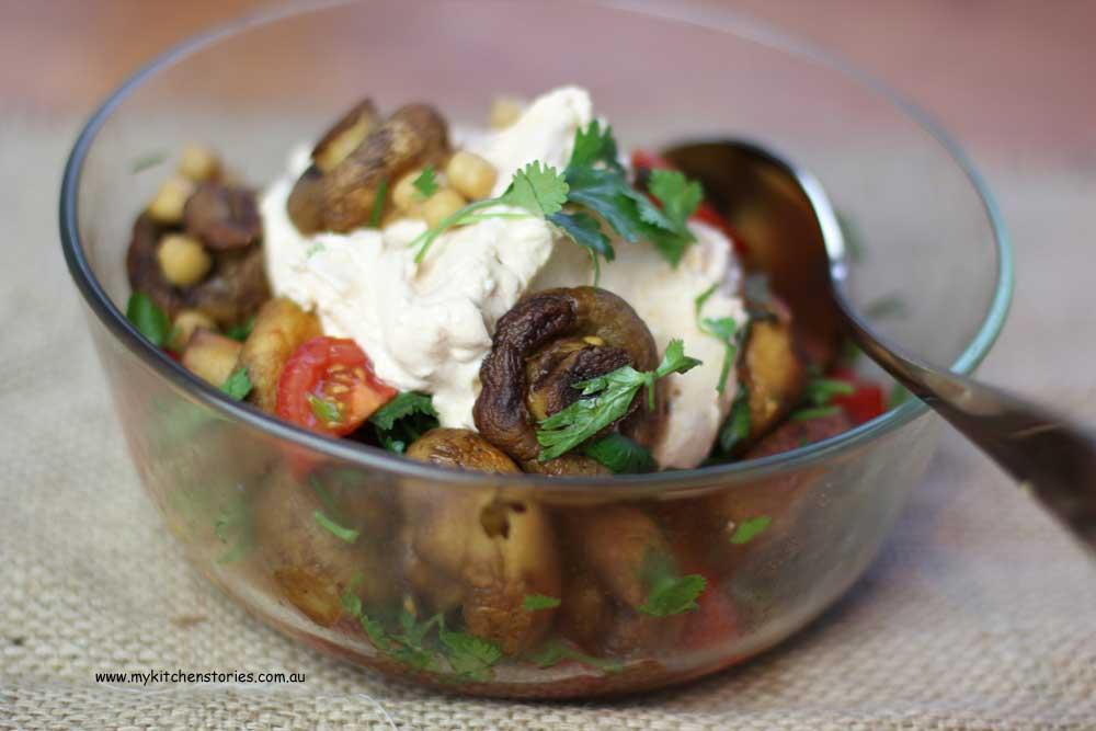 Barbecue Mushroom salad