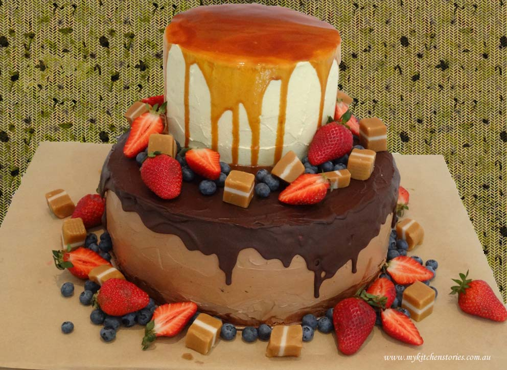 Choclate and carrot layer cake