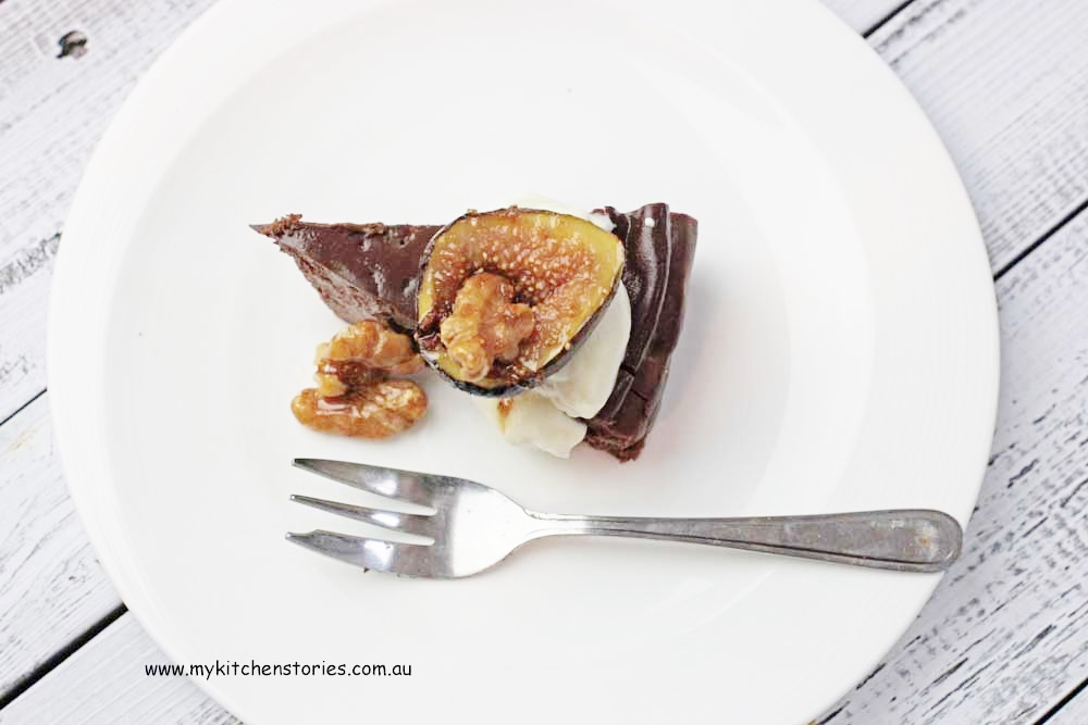 Chocolate Ricotta with figs