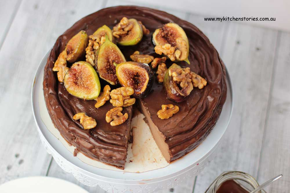 Baked Ricotta Chocolate with honeyed figs and Chocolate