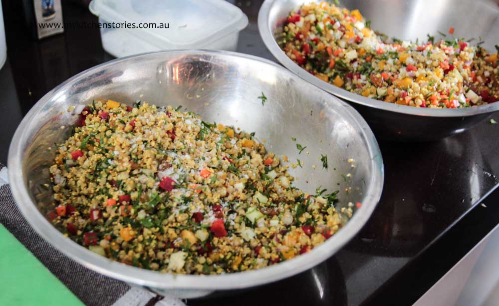 Amaranth and gremolata salad