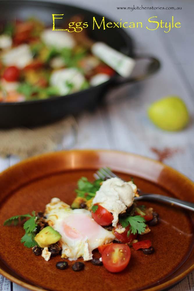 Mexican breakfast black beans
