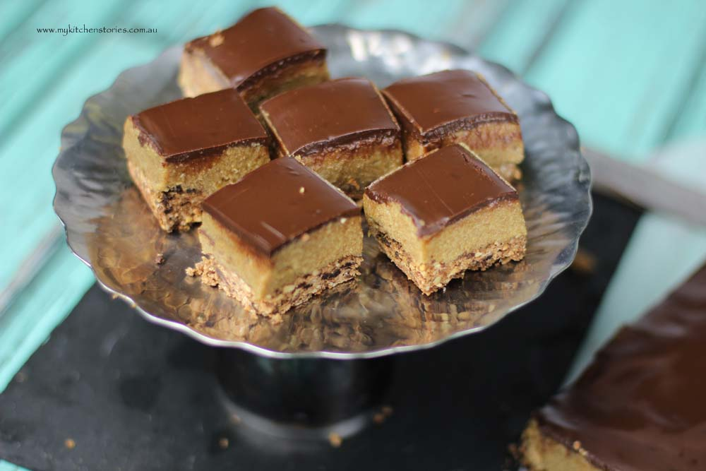 Date Cashew and Caramel slice