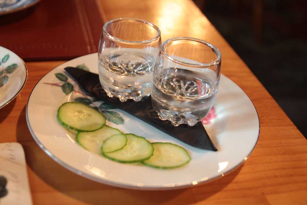 US vodka distilled with cucmber