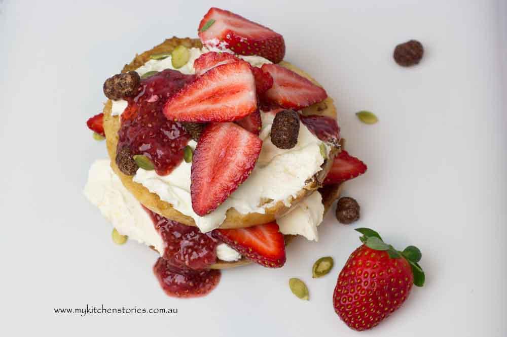 Strawberry Breakfast bagel