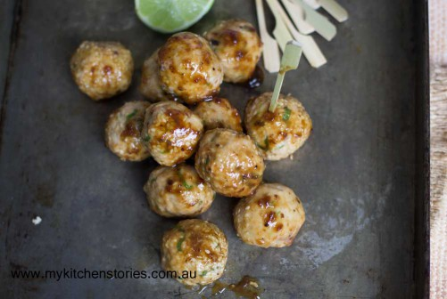 Chicken ansd sesame balls
