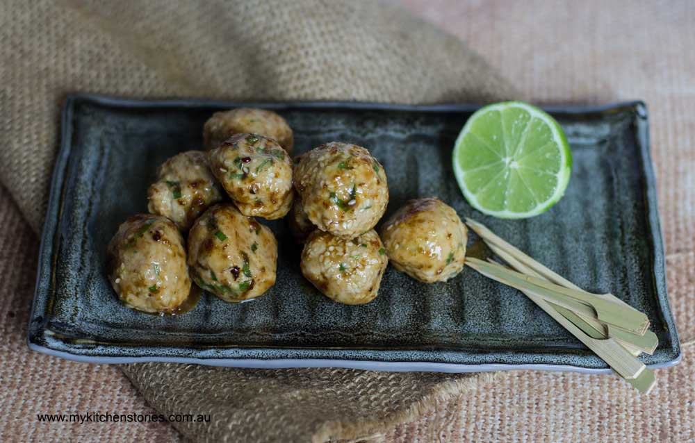 Chicken sesame bites