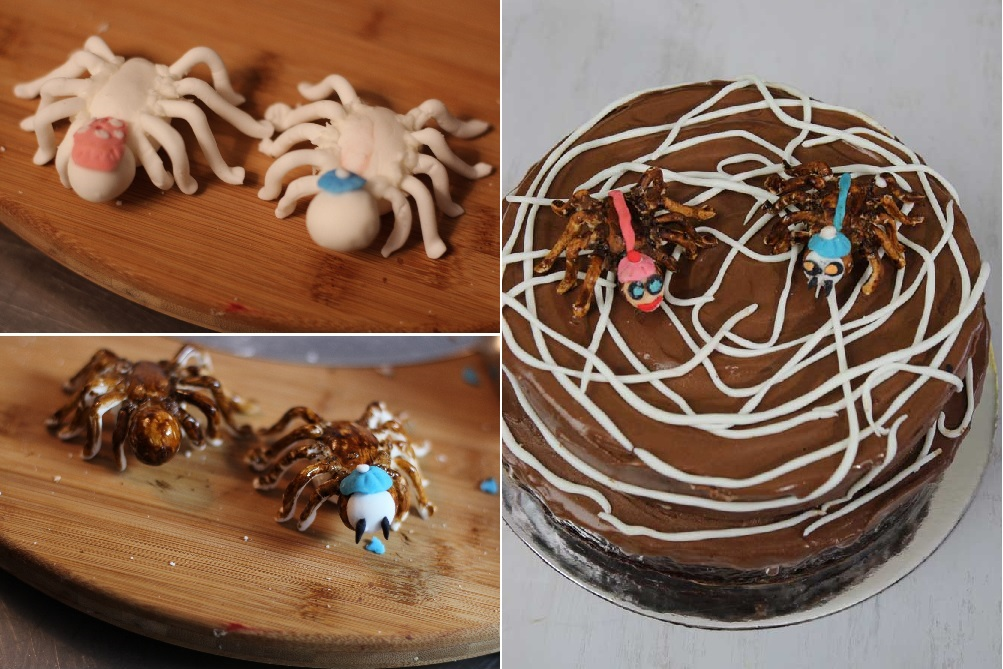 Spiders and Spider cake My Kitchen stories