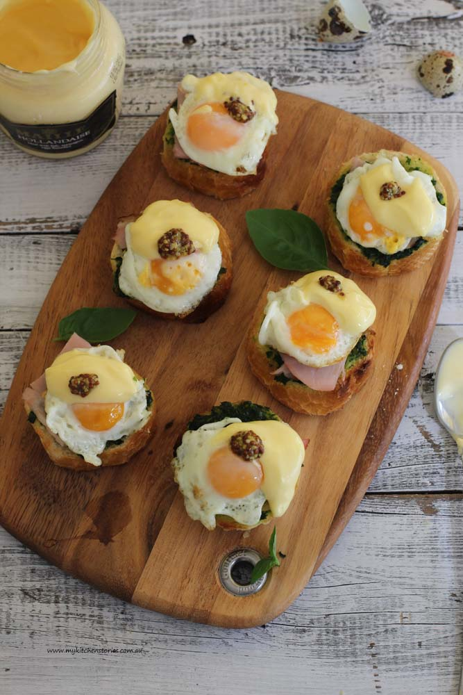 Tiny Eggs Benedict- My Kitchen Stories